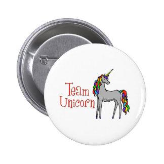 Team Unicorn Rainbow Pinback Button