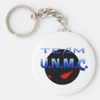 Team  UNMC Basic Round Button Keychain