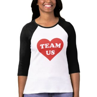 TEAM US Women's Bella+Canvas 3/4 Sleeve Raglan T-S Shirts