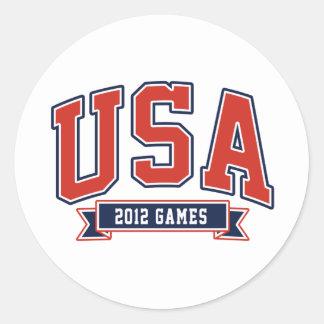 Team USA 2012 Games Classic Round Sticker