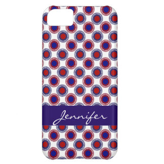 Team USA! Red White & Blue Personalized iPhone Case For iPhone 5C