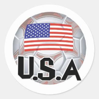 Team USA Soccer Classic Round Sticker