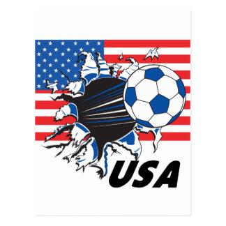 Team USA Soccer Postcard