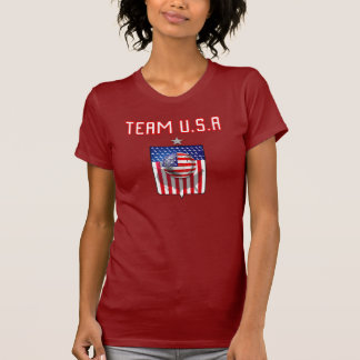 Team USA soccer silver star soccer ball sports Tee Shirts