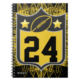 Team USA Sports Black and Gold Pittsburgh Football Spiral Notebook