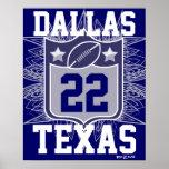 Team USA Sports Blue Silver Dallas Texas Football Poster