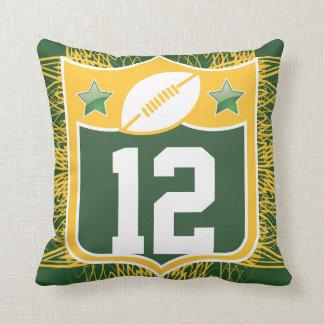 Team USA Sports Green Bay Wisconsin Football Throw Pillow