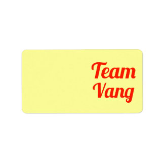 Team Vang Address Label