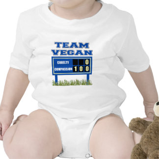 Team Vegan Baby Baby Bodysuits