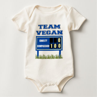 Team Vegan Baby Organic Baby Bodysuit