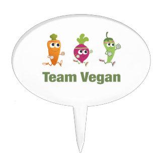 Team Vegan Cake Topper