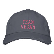 TEAM VEGAN EMBROIDERED BASEBALL CAP