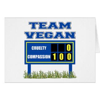 Team Vegan Greeting Card