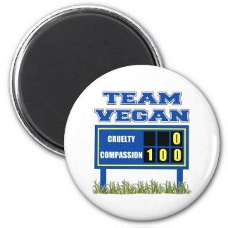 Team Vegan Magnet