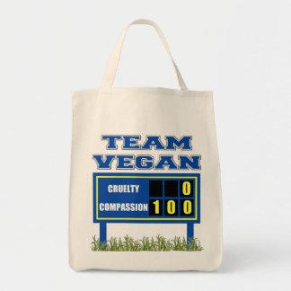 Team Vegan Organic Grocery Tote Bag