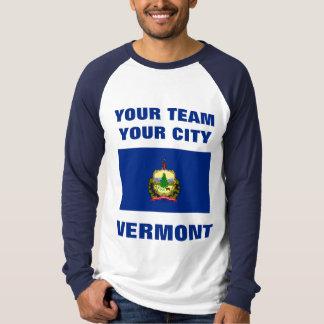 Team Vermont State Flag Raglan T-shirt