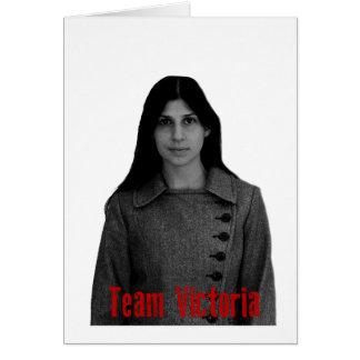 Team Victoria Greeting Card