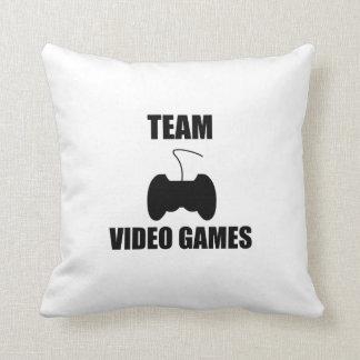 Team Video Games Throw Pillows