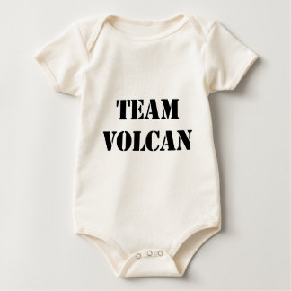TEAM VOLCAN BLACK BABY BODYSUIT