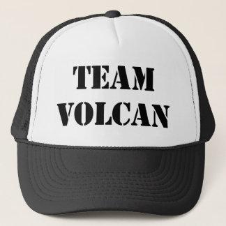 TEAM VOLCAN BLACK TRUCKER HAT