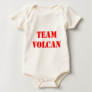 TEAM VOLCAN RED BABY BODYSUIT