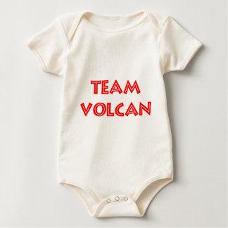 TEAM VOLCAN RED LOGO BABY BODYSUIT