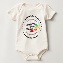 Team Walking Tall & Wright - Walk Your A.S. Off Baby Bodysuit