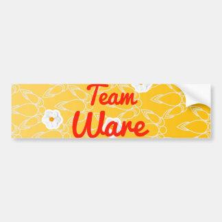 Team Ware Car Bumper Sticker