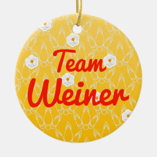 Team Weiner Double-Sided Ceramic Round Christmas Ornament
