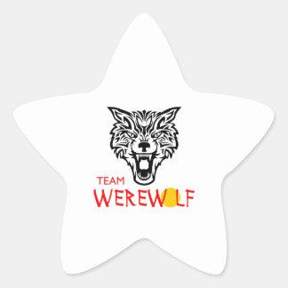 TEAM WEREWOLF STAR STICKER