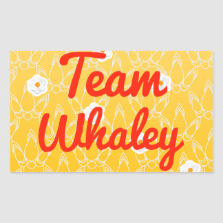 Team Whaley Rectangle Stickers