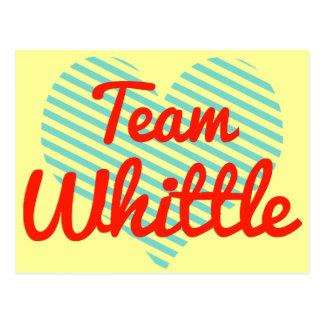 Team Whittle Postcard