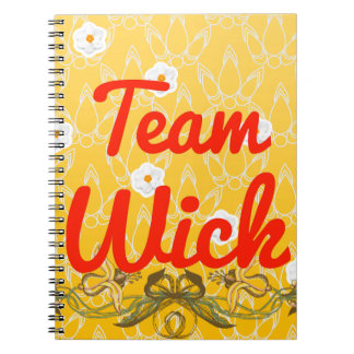 Team Wick Spiral Note Books