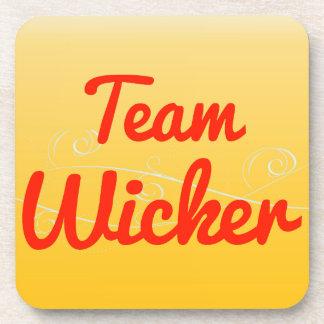 Team Wicker Drink Coaster