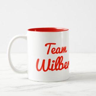 Team Wilber Two-Tone Coffee Mug