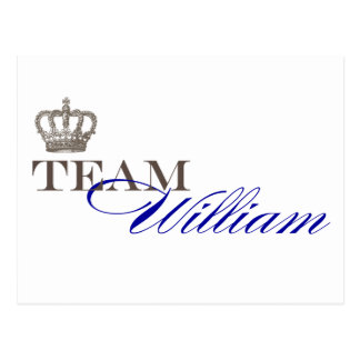 Team William | Royal Wedding Souvenirs Postcard