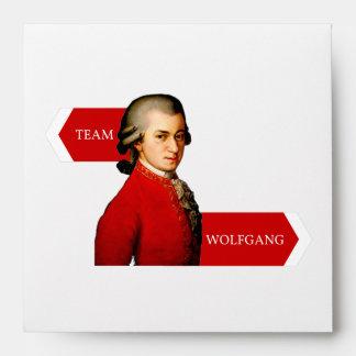 Team Wolfgang. Wolfgang Amadeus Mozart fan Envelopes