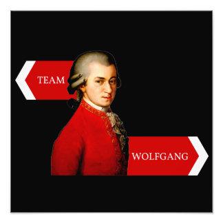 Team Wolfgang. Wolfgang Amadeus Mozart fan Photo Print