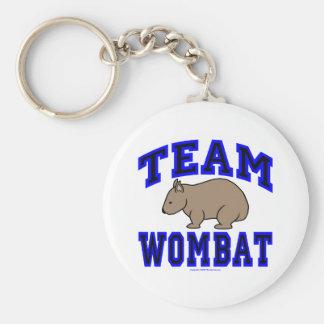 Team Wombat IV Keychain