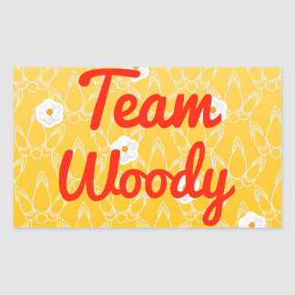 Team Woody Rectangular Sticker