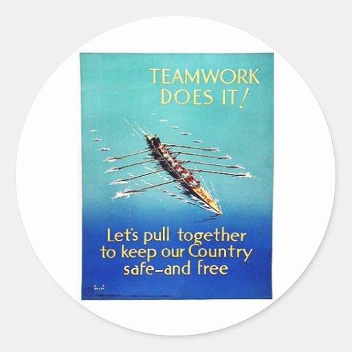 Team Work Doesit Stickers