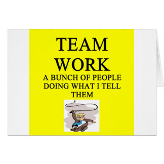 team work joke greeting cards