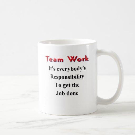 Team work mugs