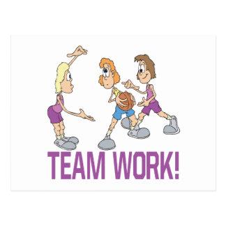 Team Work Postcard