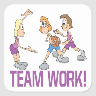 Team Work Square Sticker