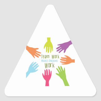 Team Work Triangle Sticker