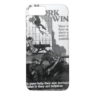 Team Work Wins! Your work_War image iPhone 8/7 Case