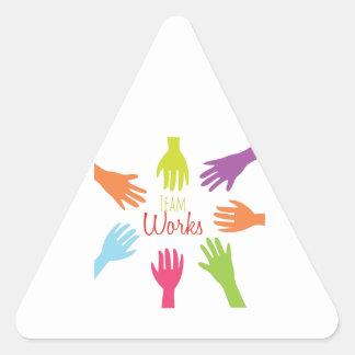 Team Works Triangle Stickers