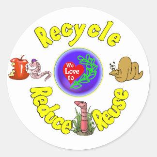 Team Worm.:-) Classic Round Sticker