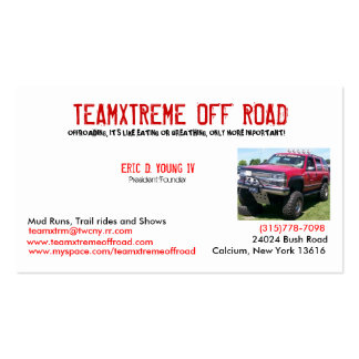team xtreme cards business card